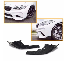 F87 Carbon Fiber Front Bumper Side Splitter Apron Flaps for BMW M2 F87 Only 2016